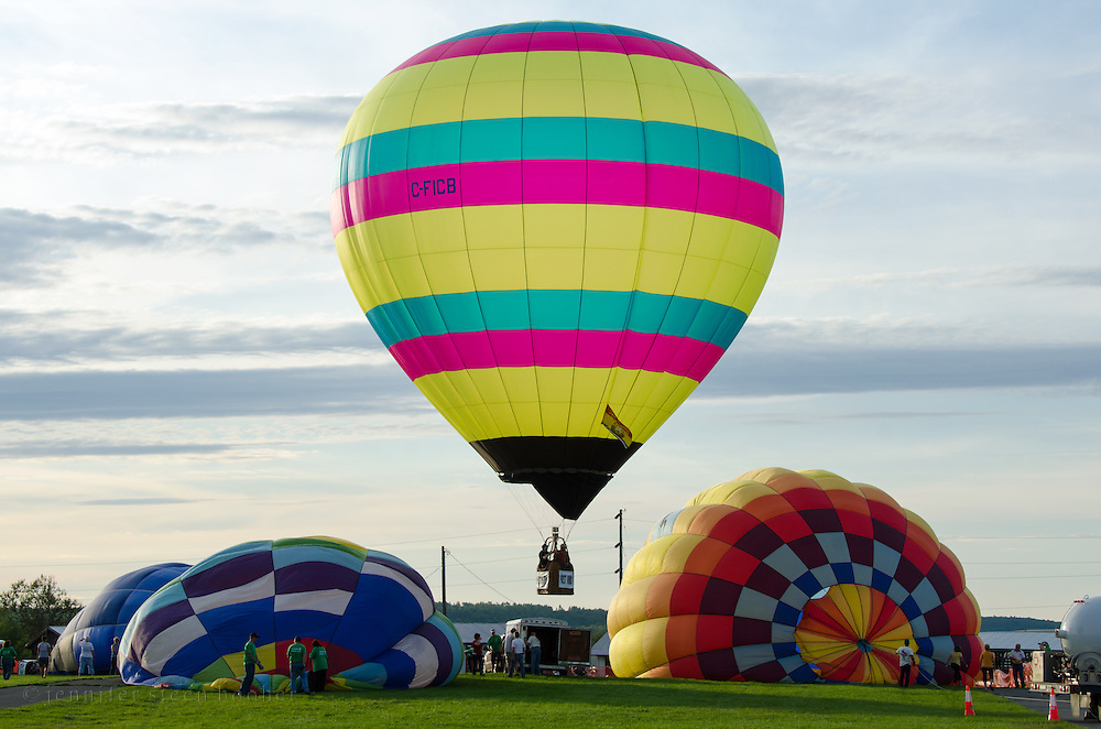 'Sinbad' lifting off at the Crown of Maine Balloon Fair, Presque Isle, Maine.