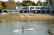 21/10/2003 Chiswick Boat Houses. University Of London Boathouse - Hartington Road - Chiswick - London  W4. [Mandatory Credit: Peter Spurrier / Intersport Images]