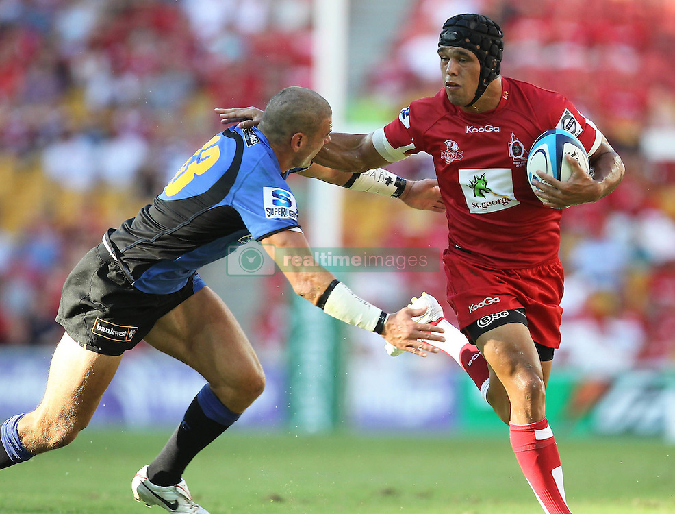 Action during the Super 15 match between the Queensland Reds and the Western Force. Half time (Force -12) leading the (Reds - 6)...Played at Lang Park, Brisbane (20 February 2011)...Photo: SMP IMAGES (Warren Keir)/SPORTZPICS