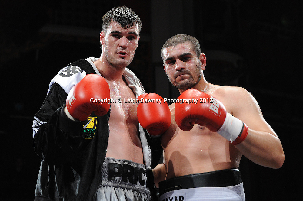 Danny Price defeats Tayar Mehmed in a Cruiserweight contest at Olympia, Liverpool on the 21st January 2012. Frank Maloney Promotions on Skysports HD1. © Leigh Dawney Photography 2012.