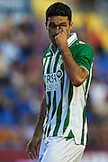 VALENCIA, SPAIN - JUNE 01: Jorge Molina of Real Betis Balompie looks on during the Liga BBVA between Levante UD and Real Betis Balompie at the Ciutat de Valencia stadium on June 01, 2013 in Valencia, Spain. (Photo by Aitor Alcalde Colomer).