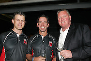 Jamis Cox, Mark Sorell and Michael during the CLT20 live broadcast party held at the Supersport Studios in Johannesburg on the 8 September held as part of the build up to the Champions League T20 tournament being held in South Africa between the 10th and 26th September 2010..Photo by: Ron Gaunt/SPORTZPICS/CLT20