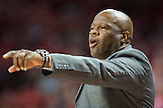 FAYETTEVILLE, AR - NOVEMBER 13:  Head Coach Mike Anderson of the Arkansas Razorbacks yells to his team during a game against the Southern University Jaguars at Bud Walton Arena on November 13, 2015 in Fayetteville, Arkansas.  The Razorbacks defeated the Jaguars 86-68.  (Photo by Wesley Hitt/Getty Images) *** Local Caption *** Mike Anderson