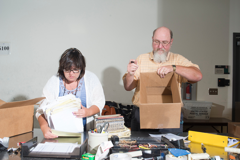 July 13, 2016 - Martinsburg, WV - At the BATF National Tracing Center for firearms in Martinsburg, WV. Over one million records are processed here a month related to gun registration.