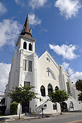 The historic Mother Emanuel African Methodist Episcopal Church on the 4th anniversary of the mass shooting June 17, 2019 in Charleston, South Carolina. Nine members of the historically black congregation were gunned down during bible study by a white supremacist on June 17, 2015.