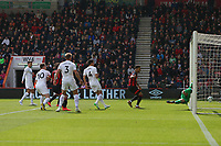 Football - 2018 / 2019 Premier League - AFC Bournemouth vs. Burnley<br /> <br /> Tom Heaton of Burnley fails to stop a looping header from Ashley Barnes of Burnley finding the bottom corner to put Bournemouth a goal up at the Vitality Stadium (Dean Court) Bournemouth <br /> <br /> COLORSPORT/SHAUN BOGGUST