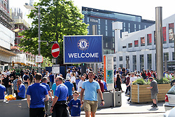 May 19, 2018 - London, England, United Kingdom - Chelsea Fans at Wembley Staidum  attend The Emirates FA Cup Final between Chelsea and Manchester United at Wembley Stadium on May 19, 2018 in London, England. (Credit Image: © Alex Cavendish/NurPhoto via ZUMA Press)