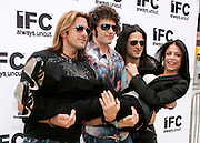 ZO2 members (L-R) Joey Cassata, Paulie Z, David Z and Bethenny Frankel pose at the Season 2 IFC 'Hottest Rocker Mom Contest' finale presentation on the Madison Square Park Traffic Island in New York City, USA on June 3, 2009.