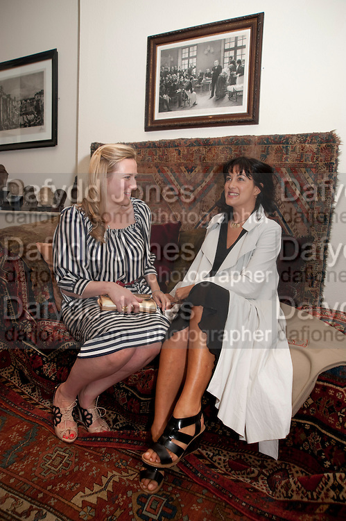 SUSIE BOYT; POLLY SAMSON, Freud Museum dinner, Maresfield Gardens. 16 June 2011. <br /> <br />  , -DO NOT ARCHIVE-© Copyright Photograph by Dafydd Jones. 248 Clapham Rd. London SW9 0PZ. Tel 0207 820 0771. www.dafjones.com.