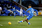 Peterborough Utd forward Ivan Toney (17) misses an easy during the EFL Sky Bet League 1 match between Peterborough United and Rochdale at London Road, Peterborough, England on 12 January 2019.