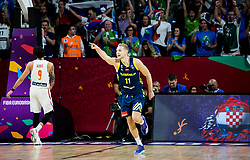 Jaka Blazic of Slovenia reacts during basketball match between National Teams of Slovenia and Spain at Day 15 in Semifinal of the FIBA EuroBasket 2017 at Sinan Erdem Dome in Istanbul, Turkey on September 14, 2017. Photo by Vid Ponikvar / Sportida