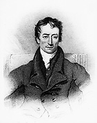 Charles Lamb (1775-1834) English essayist, early 19th century. Lamb used the pseudonym 'Elia'. With his sister Mary he wrote 'Tales from Shakespeare' (1807) for children.  Engraving.