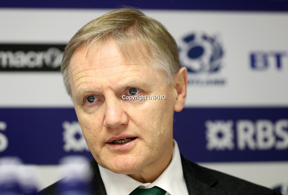 RBS 6 Nations Championship Round 1, BT Murrayfield, Scotland 4/2/2017<br /> Scotland vs Ireland<br /> Ireland head coach Joe Schmidt at the post match press conference<br /> Mandatory Credit &copy;INPHO/Dan Sheridan