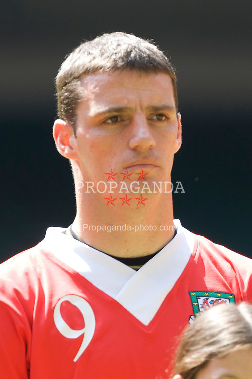 Cardiff, Wales - Saturday, June 2, 2007: Wales' Jason Koumas lines-up to face Czech Republic before the UEFA Euro 2008 Qualifying Group D match at the Millennium Stadium. (Pic by David Rawcliffe/Propaganda)