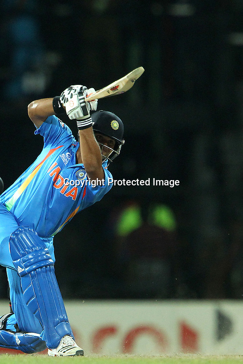 Suresh Raina during the ICC World Twenty20 Super 8s match between Australia and India held at the Premadasa Stadium in Colombo, Sri Lanka on the 28th September 2012<br /> <br /> Photo by Ron Gaunt/SPORTZPICS
