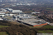 aerial photograph of the Heinz Factory in Wigan   Lancashire.H. J. Heinz Ltd was founded by Herny Heinz in 1888 and the Wigan plant was opened in 1959 and currently employs 1200 people.The factory is the largest food processing factory in Europe and makes a billion cans of baked beans per year.