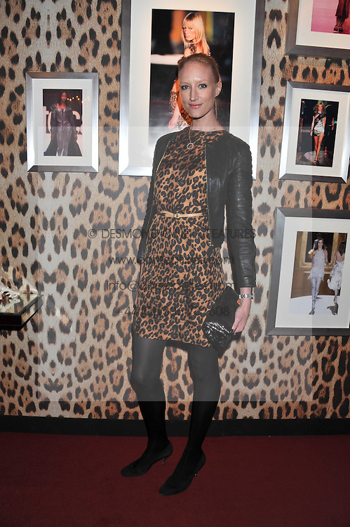 JADE PARFITT at a party hosted by Roberto Cavalli to celebrate his new Boutique's opening at 22 Sloane Street, London followed by a party at Battersea Power Station, London SW8 on 17th September 2011.