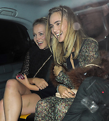 Model Suki Waterhouse and Poppy Jamie attend Selena Gomez VIP party at Annabel's in Mayfair, London, UK. 24/09/2015<br />