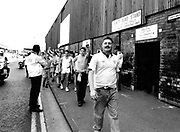 Leeds football fans outside QPR football ground London UK 1992