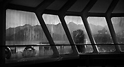 A cold damp morning travelling on the ferry to Horseshoe Bay from Gibsons, BC (2017)