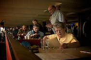 London, England, February 2007. Walthamstow stadium. Betting is one of the most popular hobbies for elderly in England.