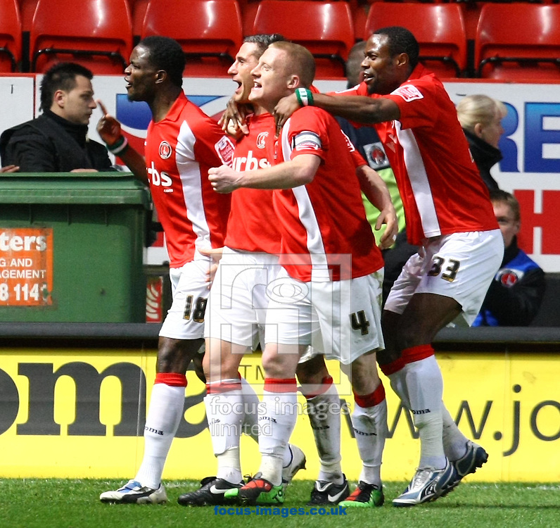London - Tuesday April 13th 2010: Nicky Forster of Charlton opens the scoring and celebrates during the Coca Cola League One match at The Valley, Charlton. (Pic by Paul Chesterton/Focus Images)