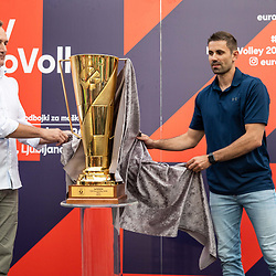 20190605: SLO, Volleyball - CEV EuroVolley 2019 Men, EuroVolley trophy revealed in Ljubljana
