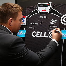 DURBAN, SOUTH AFRICA - Thursday 18th JUNE: General views during the Durban Tourism and The Cell C Sharks Launch of a Strategic 3 year Partnership with the City of Durban and The Cell C Sharks at Growthpoint Kings Park on Thursday June 18th , 2015 in Durban, South Africa. (Photo by Steve Haag)