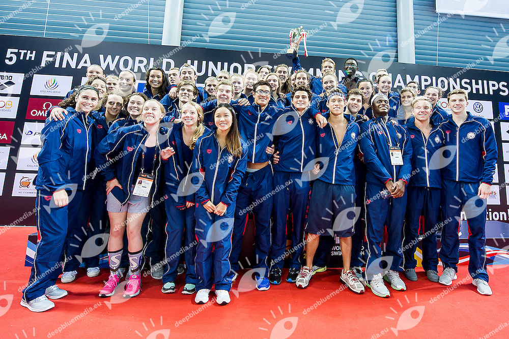 Team United States USA<br /> Best Team<br /> Day06 30/08/2015 - OCBC Aquatic Center<br /> V FINA World Junior Swimming Championships<br /> Singapore SIN  Aug. 25-30 2015 <br /> Photo A.Masini/Deepbluemedia/Insidefoto