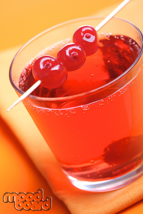 Close up of drink - studio shot