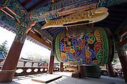 Songgwangsa temple. Dragon- and fish drums.