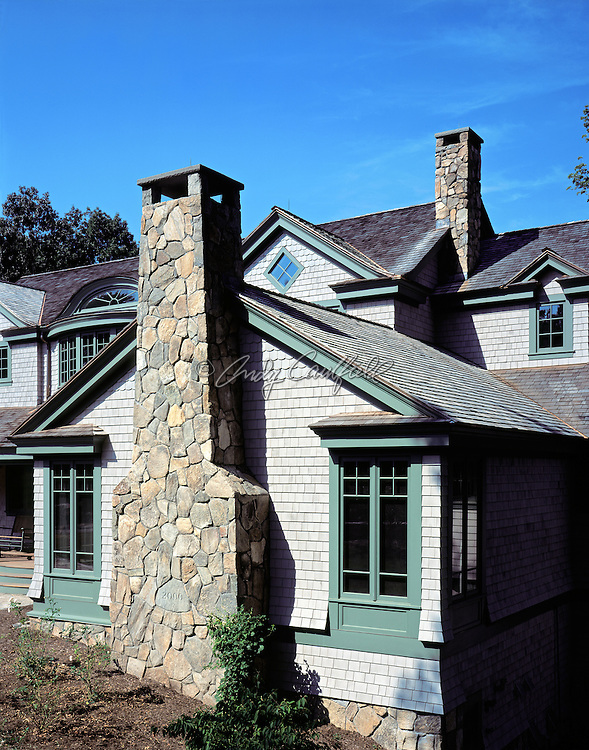 Shingle style home designed by SAIA-Sterling Associates Inc. Architects of Cambridge, MA. .
