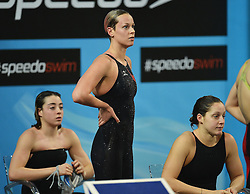 12.12.2012, Sinan Erdem Arena, Istanbul, TUR, FINA, Kurzbahn WM, im Bild Diletta Carli, Federica Pellegrini e Alice Mizzau Italia Women's 4x200 freestyle relay // during the FINA World Short Course Swimming Championships at the Sinan Erdem Arena, Istanbul, Turkey on 2012/12/12. EXPA Pictures © 2012, PhotoCredit: EXPA/ Insidefoto/ Andrea Staccioli..***** ATTENTION - for AUT, SLO, CRO, SRB, BIH and SWE only *****