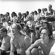 Crowd watching a performance, Glastonbury, Somerset, 1989