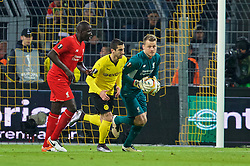 DORTMUND, GERMANY - Thursday, April 7, 2016: Liverpool's goalkeeper Simon Mignolet in action against Borussia Dortmund during the UEFA Europa League Quarter-Final 1st Leg match at Westfalenstadion. (Pic by David Rawcliffe/Propaganda)