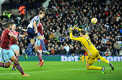 West Bromwich Albion's Craig Dawson scores a goal. - Photo mandatory by-line: Dougie Allward/JMP - Mobile: 07966 386802 - 02/12/2014 - SPORT - Football - West Bromwich - The Hawthorns - West Bromwich Albion v West Ham United - Barclays Premier League