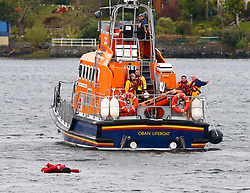 A multi agency exercise at Oban airport involving airport rescue services, Strathclyde Fire and Rescue Service, Scottish Ambulance Service, Coastguard and the RNLI. The exercise was a simulation of a light plane crashing into the sea on approach to Oban airport..... (c) Stephen Lawson   Edinburgh Elite media