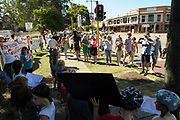 Protest against building a McDonald's in Guildford, Western Australia