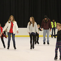 Hundreds of people came out Saturday to go ice skating at the Bancorpsouth Arena