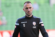 MELBOURNE, VIC - JANUARY 19: Perth Glory defender Ivan Franjic (5) watches on during warm up at the Hyundai A-League Round 14 soccer match between Melbourne City FC and Perth Glory at AAMI Park in VIC, Australia 19th January 2019. Image by (Speed Media/Icon Sportswire)