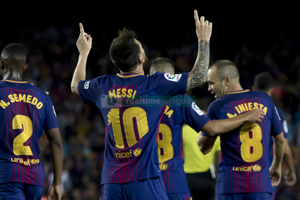 September 9, 2017 - Barcelona, Catalonia, Spain - during the spanish league match between the FC Barcelona and the RCD Espanyol in the Camp Nou Stadium in Barcelona, Spain on September 9, 2017  (Credit Image: © Miquel Llop/NurPhoto via ZUMA Press)