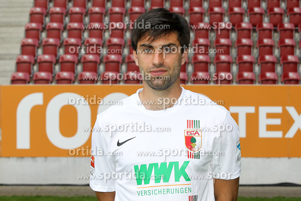 08.07.2015, WWK Arena, Augsburg, GER, 1. FBL, FC Augsburg, Fototermin, im Bild Jan Moravek #14 (FC Augsburg) // during the official Team and Portrait Photoshoot of German Bundesliga Club FC Augsburg at the WWK Arena in Augsburg, Germany on 2015/07/08. EXPA Pictures &copy; 2015, PhotoCredit: EXPA/ Eibner-Pressefoto/ Kolbert<br /> <br /> *****ATTENTION - OUT of GER*****