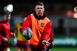 Dragons' Jack Dixon during the pre match warm up<br /> <br /> Photographer Craig Thomas/Replay Images<br /> <br /> EPCR Champions Cup Round 3 - Newport Gwent Dragons v Newcastle Falcons - Saturday 15th December 2017 - Rodney Parade - Newport<br /> <br /> World Copyright © 2017 Replay Images. All rights reserved. info@replayimages.co.uk - www.replayimages.co.uk