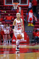 29 January 2017: Katrina Beck during an College Missouri Valley Conference Women's Basketball game between Illinois State University Redbirds the Salukis of Southern Illinois at Redbird Arena in Normal Illinois.