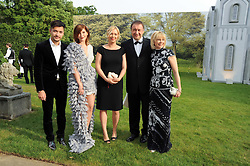 Left to right, DIMITRI ZANGIEV, ANASTASIA VIRGANSKAYA, IRINA VIRGANSKAYA and KSENIA VIRGANSKAYA at the Raisa Gorbachev Foundation Party held at Stud House, Hampton Court Palace on 5th June 2010.  The night is in aid of the Raisa Gorbachev Foundation, an international fund fighting child cancer.