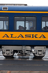 Passenger car for the Alaska Railroad, Anchorage, Alaska, United States of America