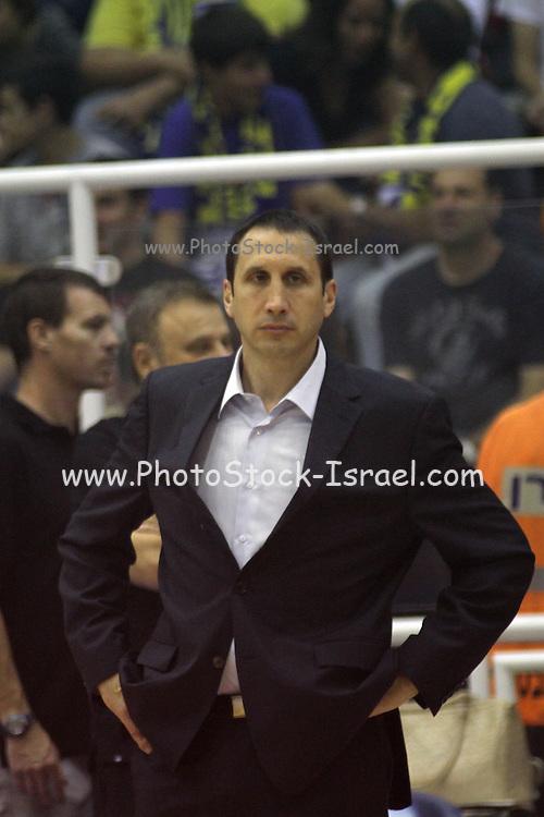 Maccabi Tel Aviv Basketball team (Yellow) Playing Hapoel Gilboa-Galil (Red) on October 16th 2011. Final result Maccabi 95 Hapoel 60 Coach:   David Blatt