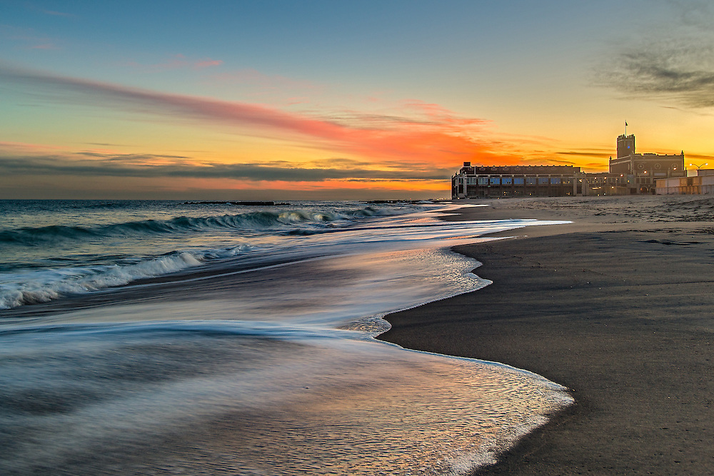 I captured a beautiful sunset at North Beach in Asbury Park, NJ