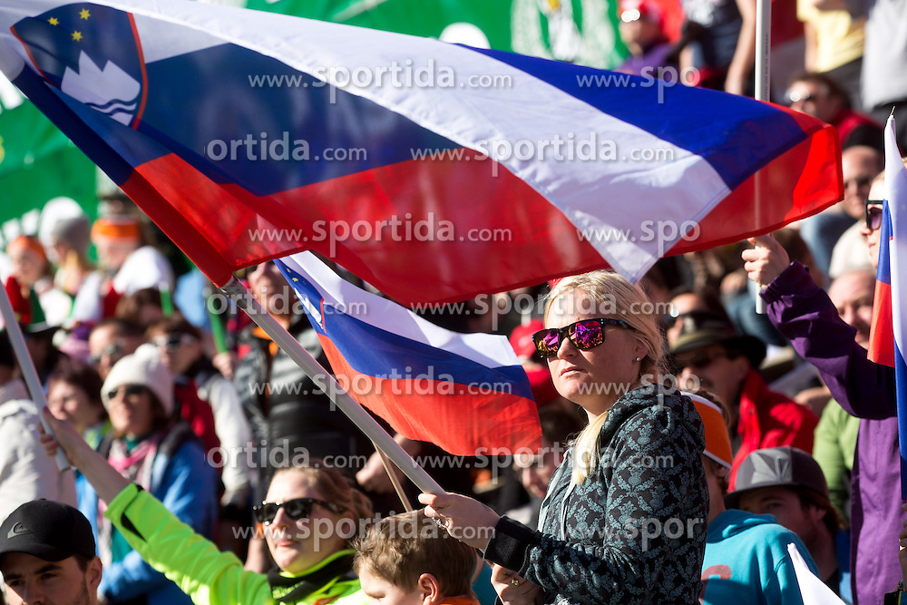 Fans during the 2nd Run of Men's Slalom - Pokal Vitranc 2014 of FIS Alpine Ski World Cup 2013/2014, on March 9, 2014 in Vitranc, Kranjska Gora, Slovenia. Photo by Matic Klansek Velej / Sportida