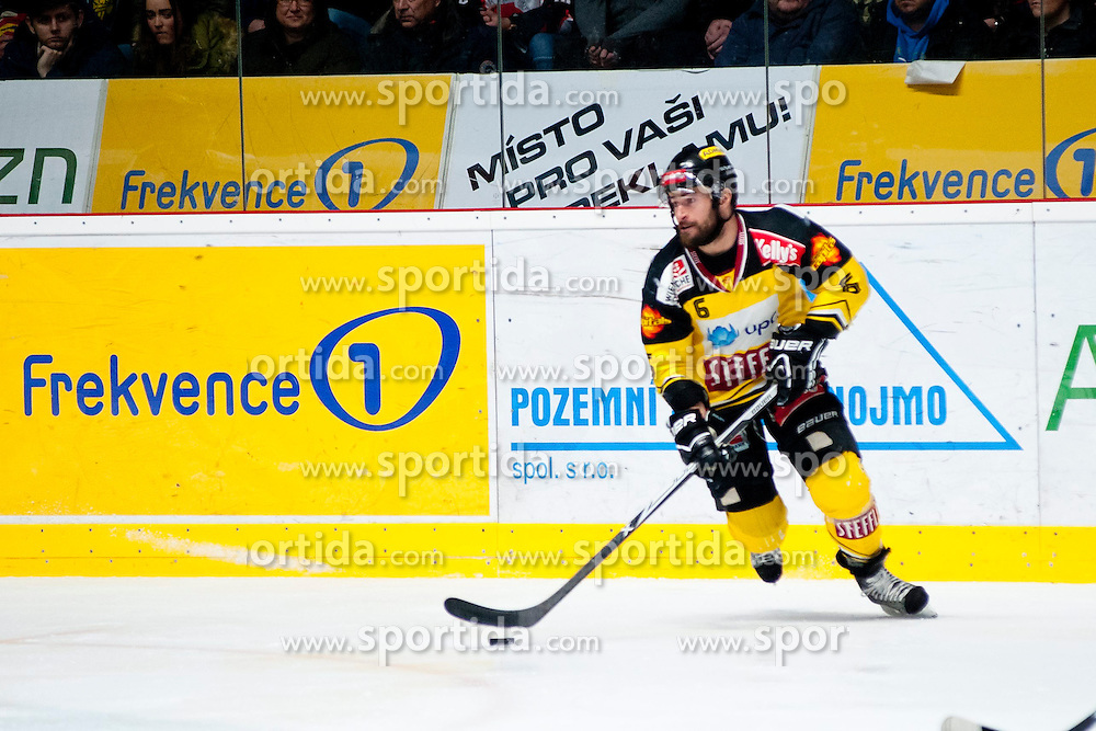 18.01.2015, Ice Rink, Znojmo, CZE, EBEL, HC Orli Znojmo vs UPC Vienna Capitals, 40. Runde, im Bild Rafael Rotter (UPC Vienna Capitals) // during the Erste Bank Icehockey League 40th round match between HC Orli Znojmo and UPC Vienna Capitals at the Ice Rink in Znojmo, Czech Republic on 2015/01/18. EXPA Pictures © 2015, PhotoCredit: EXPA/ Rostislav Pfeffer